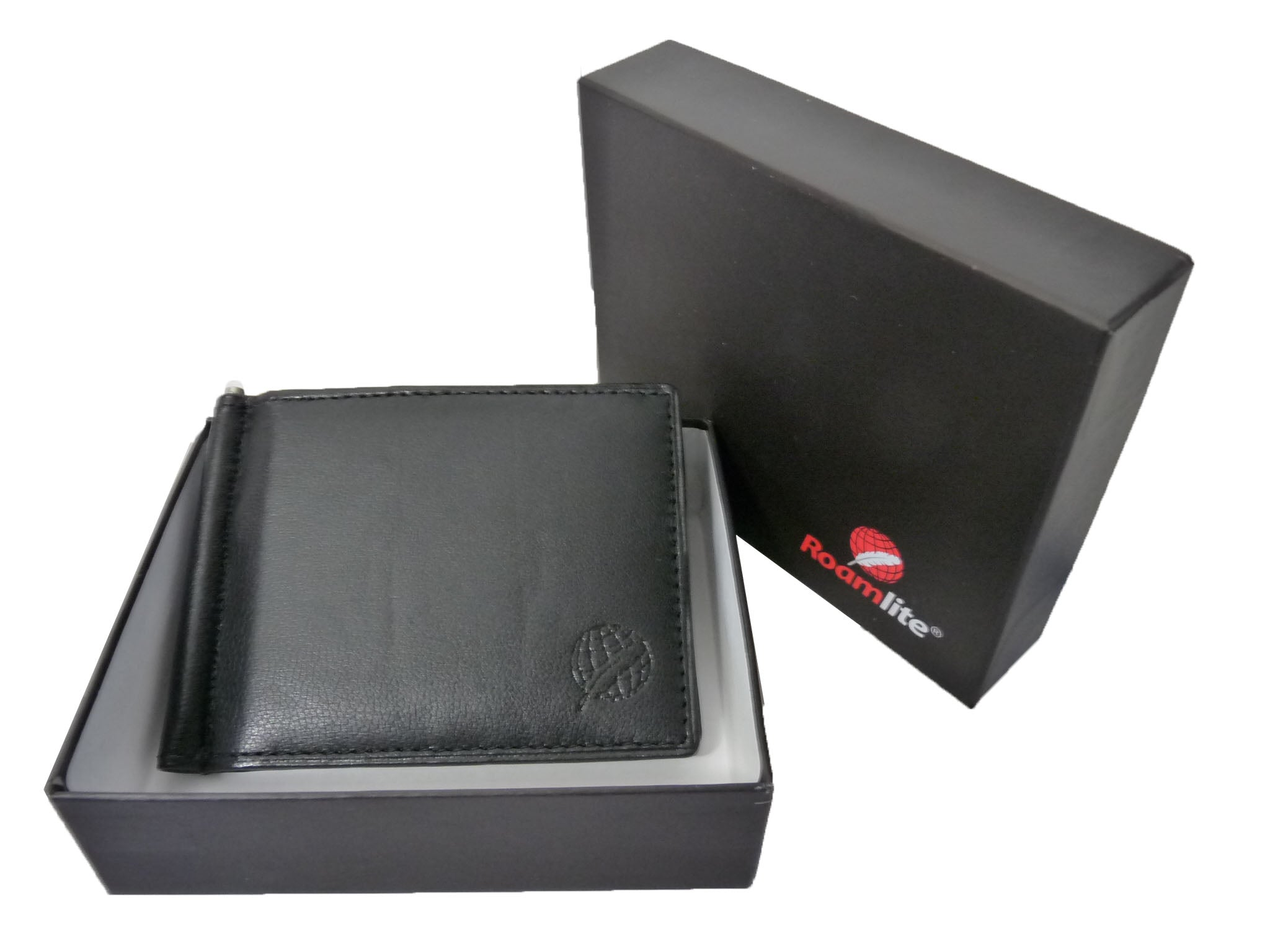 Leather Money Clip RFID Blocking Wallet RL192K gift boxed view