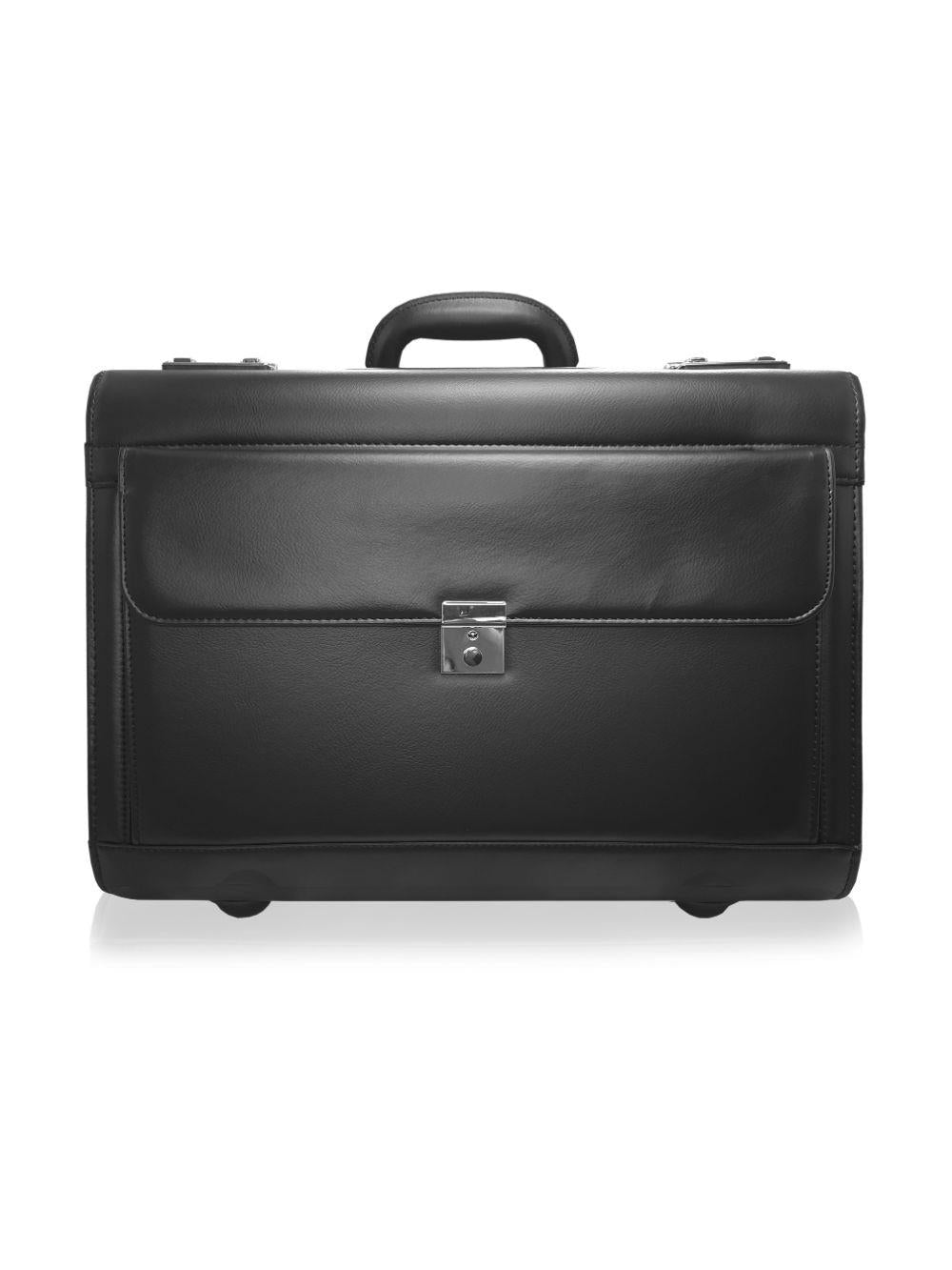 Pilot Briefcase Black RLPC9142K 2 Wheels FRONT