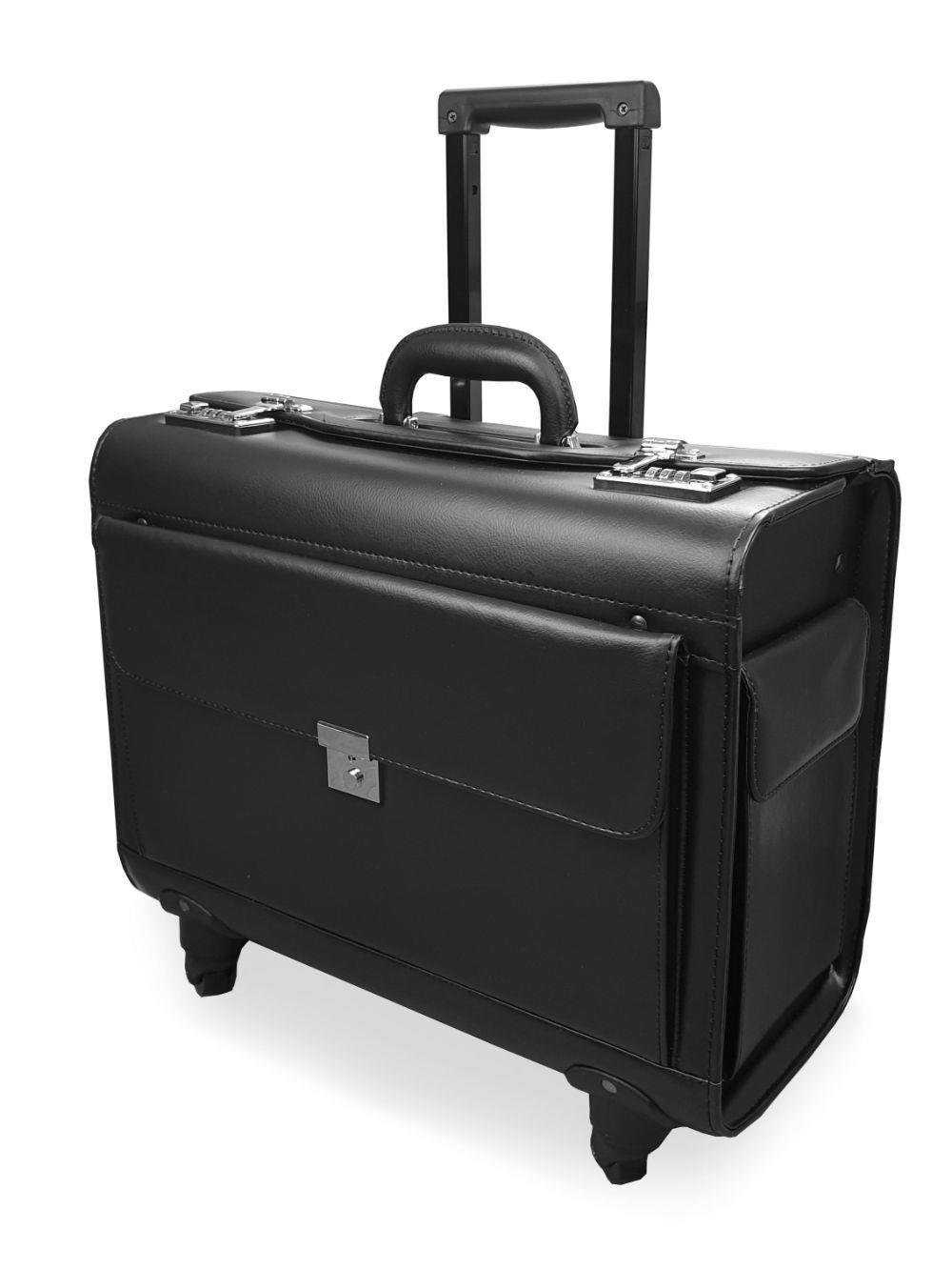 Pilot Case with 4 Wheels Side View