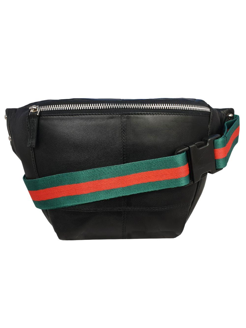 Gucci Style Black Leather Bumbag RL626KGU Belt