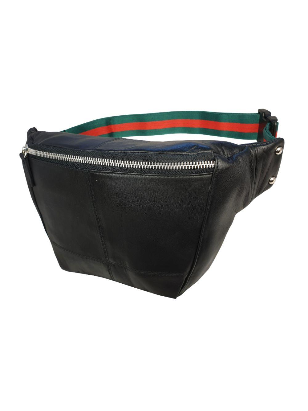 Gucci Style Black Leather Bumbag RL626KGU Side View