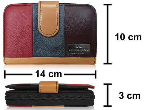 Ladies RFID Blocking Leather Purse QL841f