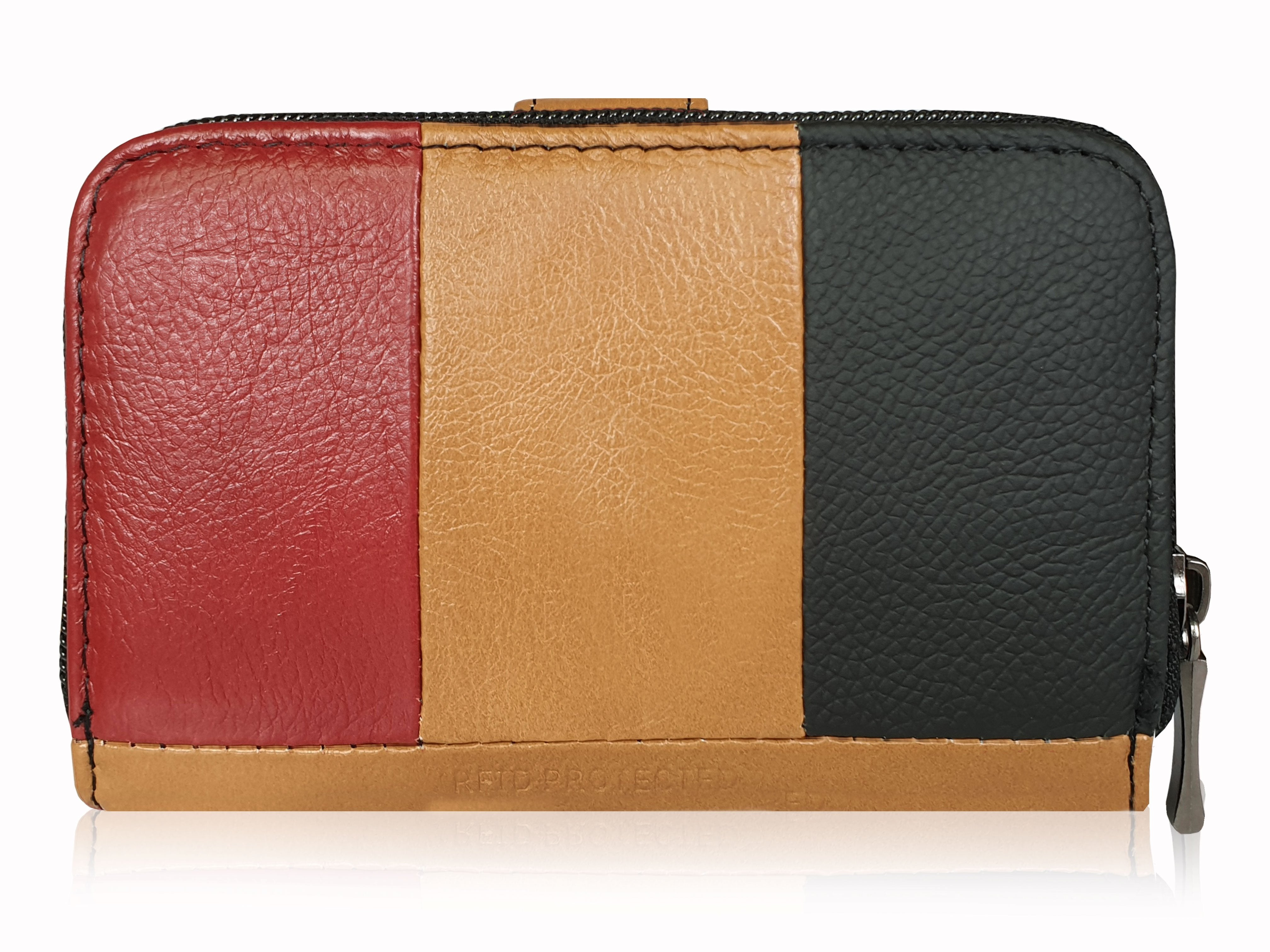 Real Leather Womens Purse - Multi Coloured, Designer, RFID Blocking