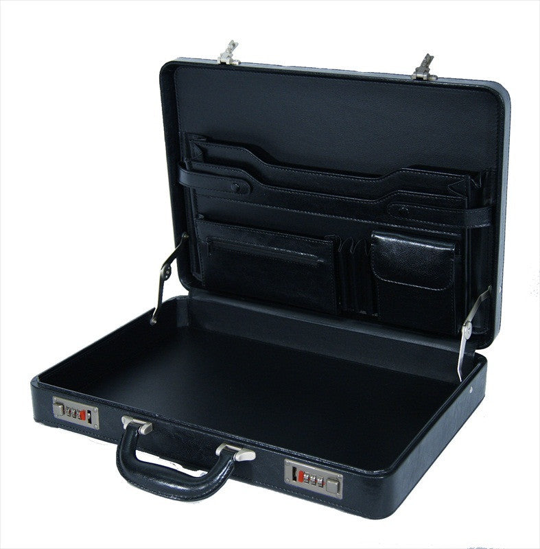 Briefcase Faux Artificial Leather Attache Case RL41K inside view