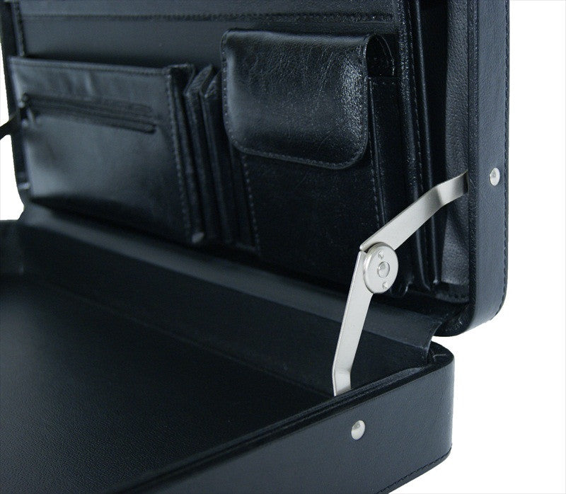 Briefcase Faux Artificial Leather Attache Case RL41K inside view 3