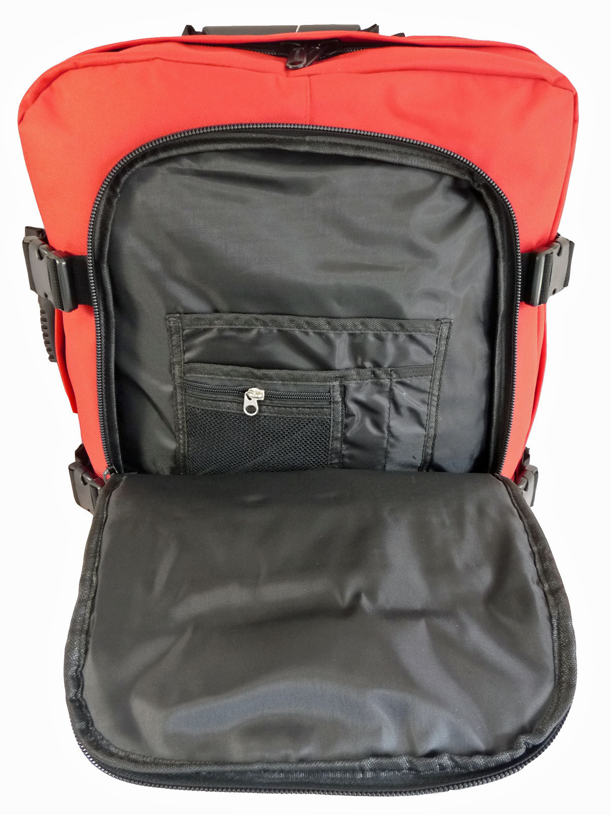 Hand Luggage Backpack Cabin Max 50cm Size RL42R inside flap view