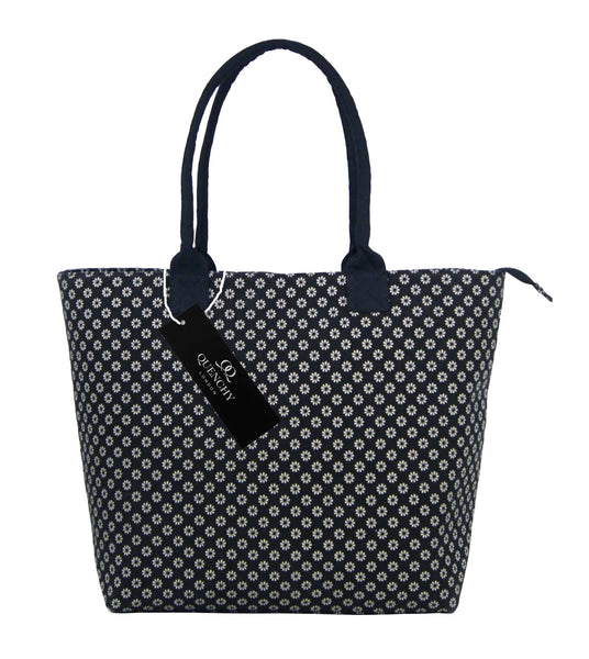 Canvas Shopping Tote Beach Bag Wallflower Black QL3155Kf