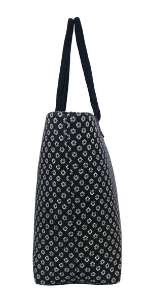 Canvas Shopping Tote Beach Bag Wallflower Black QL3155Ke