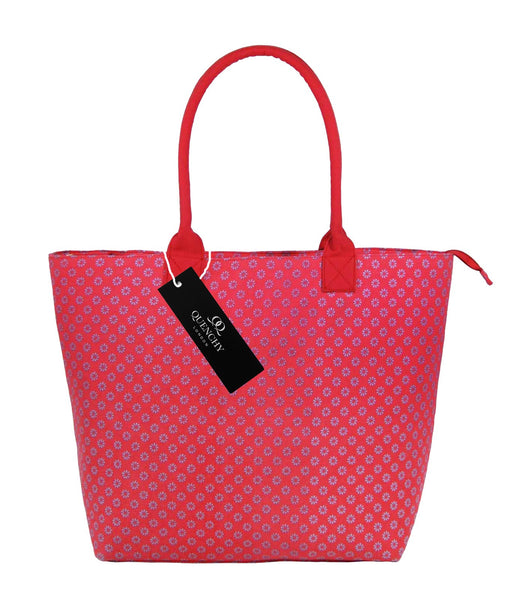 Canvas Shopping Tote Beach Bag Wallflower Pink QL3155Pf