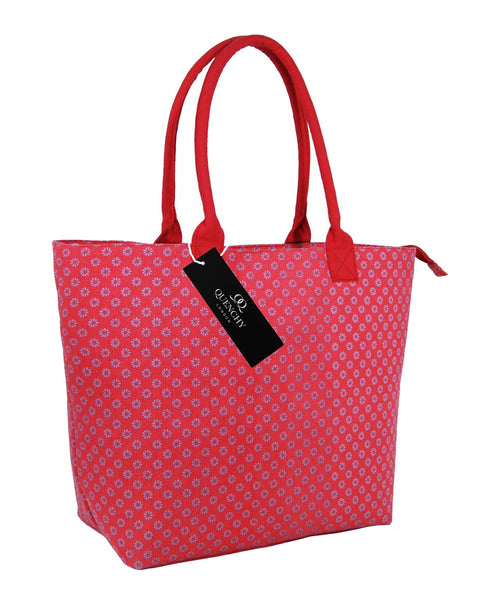 Canvas Shopping Tote Beach Bag Wallflower Pink QL3155Ps