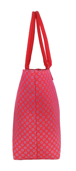 Canvas Shopping Tote Beach Bag Wallflower Pink QL3155Pe