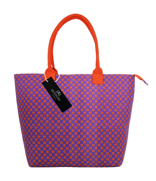 Canvas Shopping Tote Beach Bag Wallflower Purple QL3155Puf