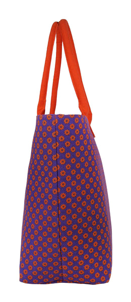Canvas Shopping Tote Beach Bag Wallflower Purple QL3155Pue