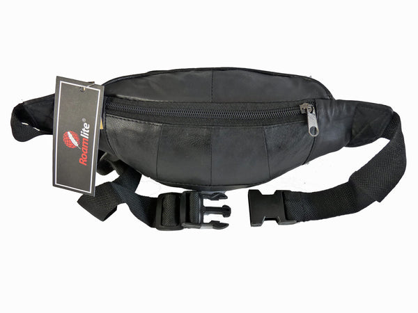 Leather Bumbag RL700K Black Rear View