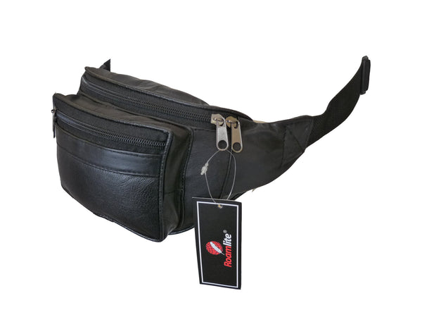 Leather Bumbag RL700K Black Side View