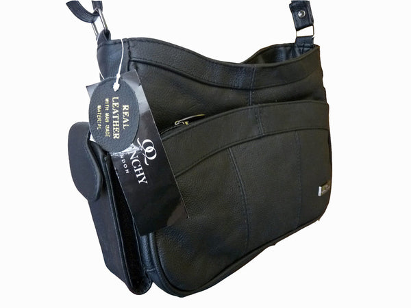 Leather Ladies Cross Body Bags QL743 side view