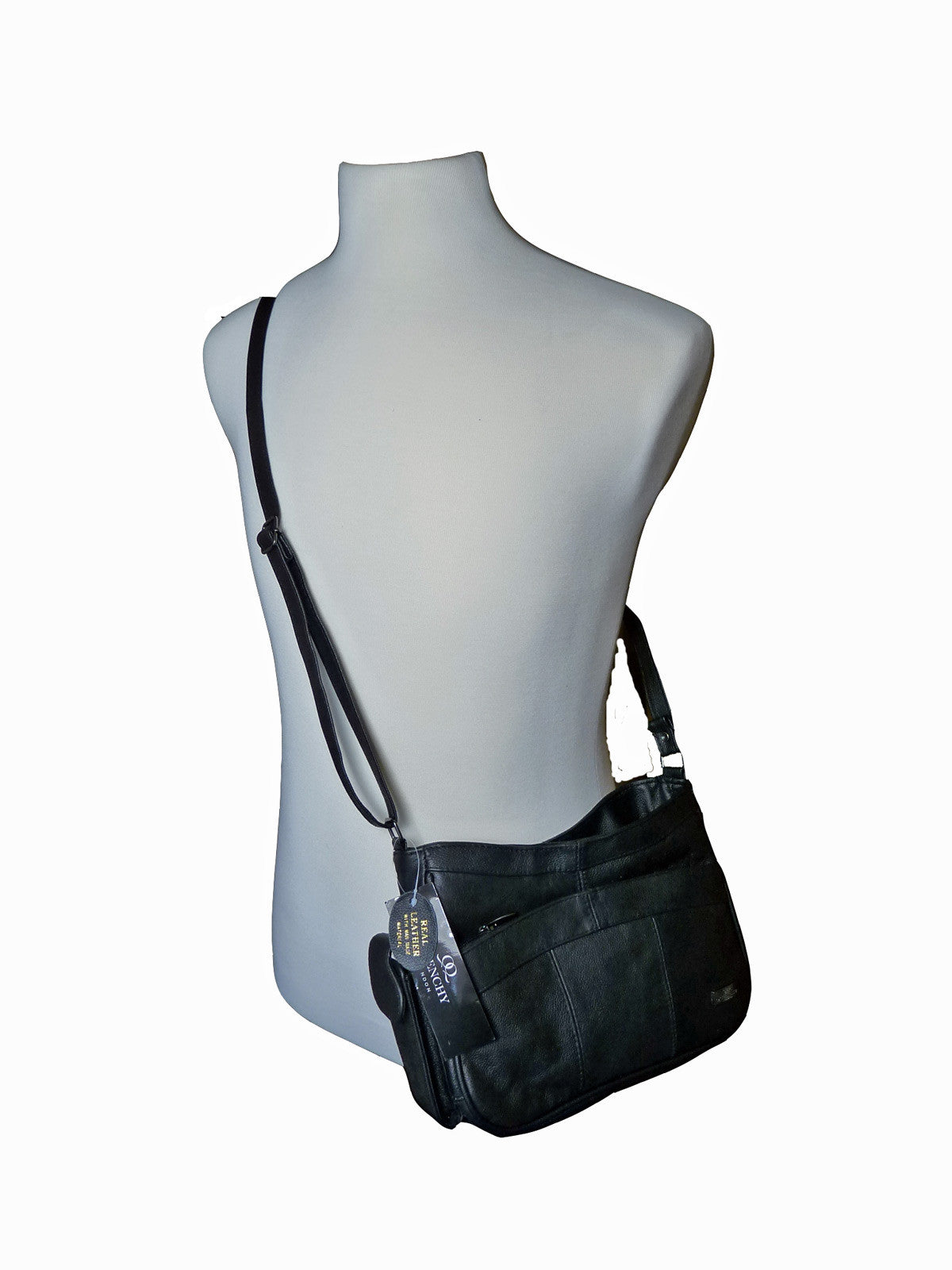 Leather Ladies Cross Body Bags QL743 body view