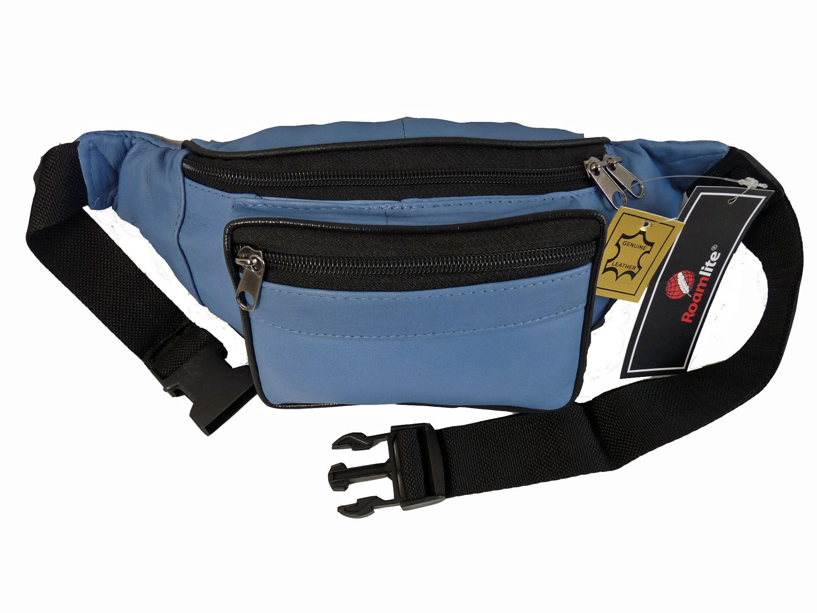 Leather Bumbag RL700LB Light Blue Front View