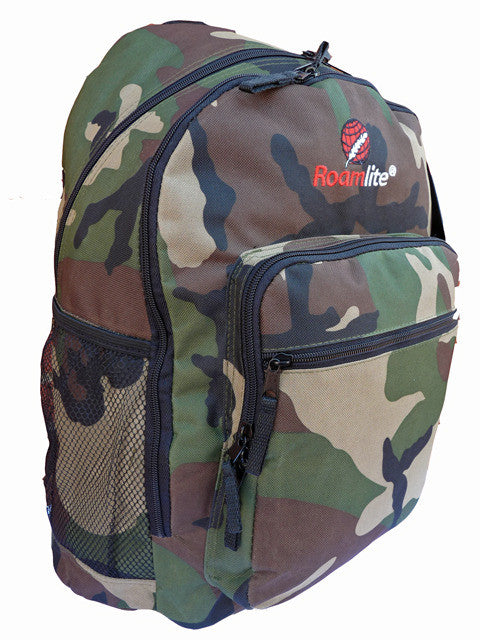 Boys Kids Childrens Camo School Backpack Rucksack Bag RL21C