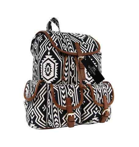 Aztec Tribal Print Backpacks Bag Bags QL154P front view