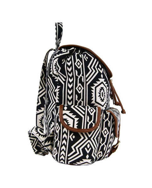 Aztec Tribal Print Backpacks Bag Bags QL154K side view