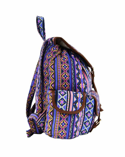 Aztec Tribal Print Backpacks Bag Bags QL154P side view