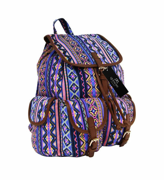 Canvas Backpack Rucksack Casual Day Packs Aztec Print Backpacks Bag Bags QL154P