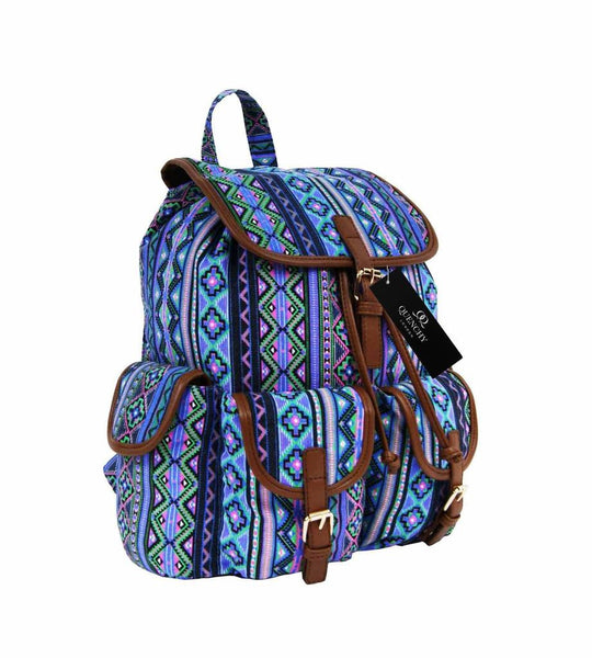 Canvas Backpack Rucksack Casual Day Packs Aztec Print Backpacks Bag Bags QL154Pu