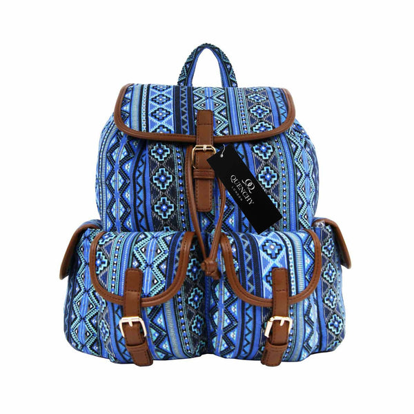 Canvas Backpack Rucksack Bag Aztec