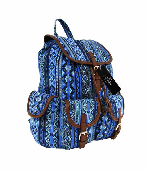 Canvas Backpack Rucksack Casual Day Packs Aztec Print Backpacks Bag Bags QL154N