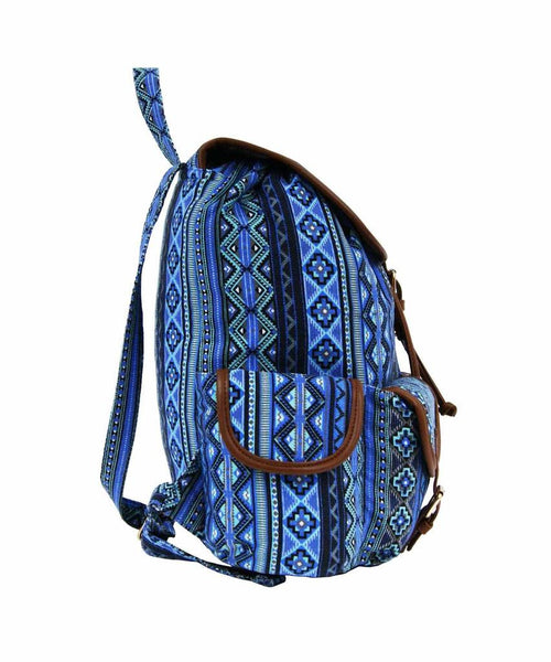 Aztec Tribal Print Backpacks Bag Bags QL154N side view