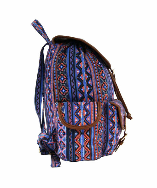 Aztec Tribal Print Backpacks Bag Bags QL154O side view