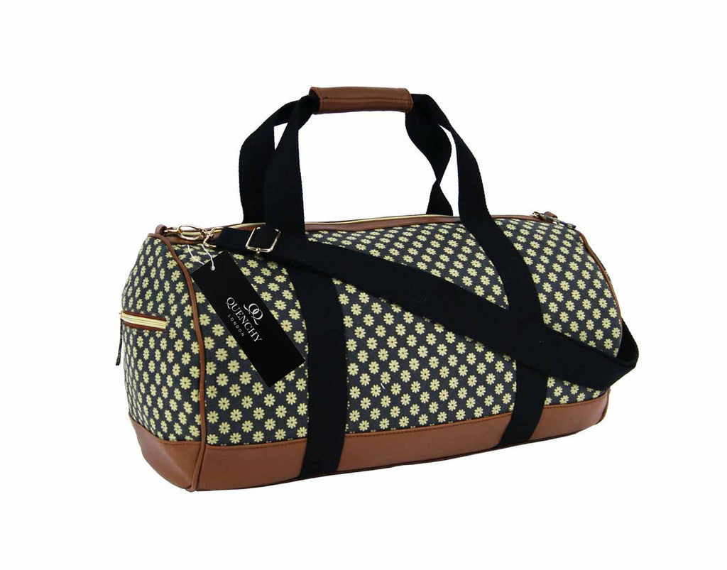 Travel Holdall Duffel Weekend Overnight Duffle Wallflower Print Bag QL6155K