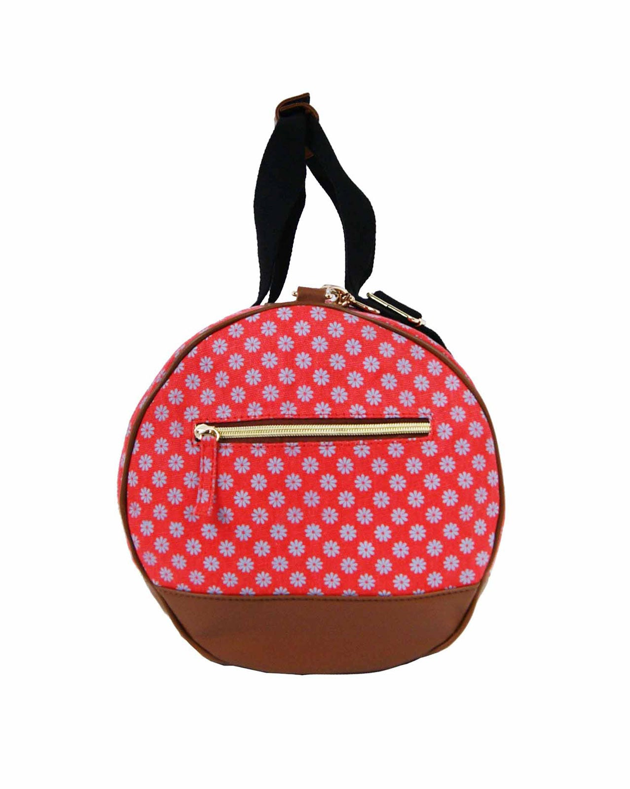 Overnight Duffle Wallflower Print Bag QL6155P end view