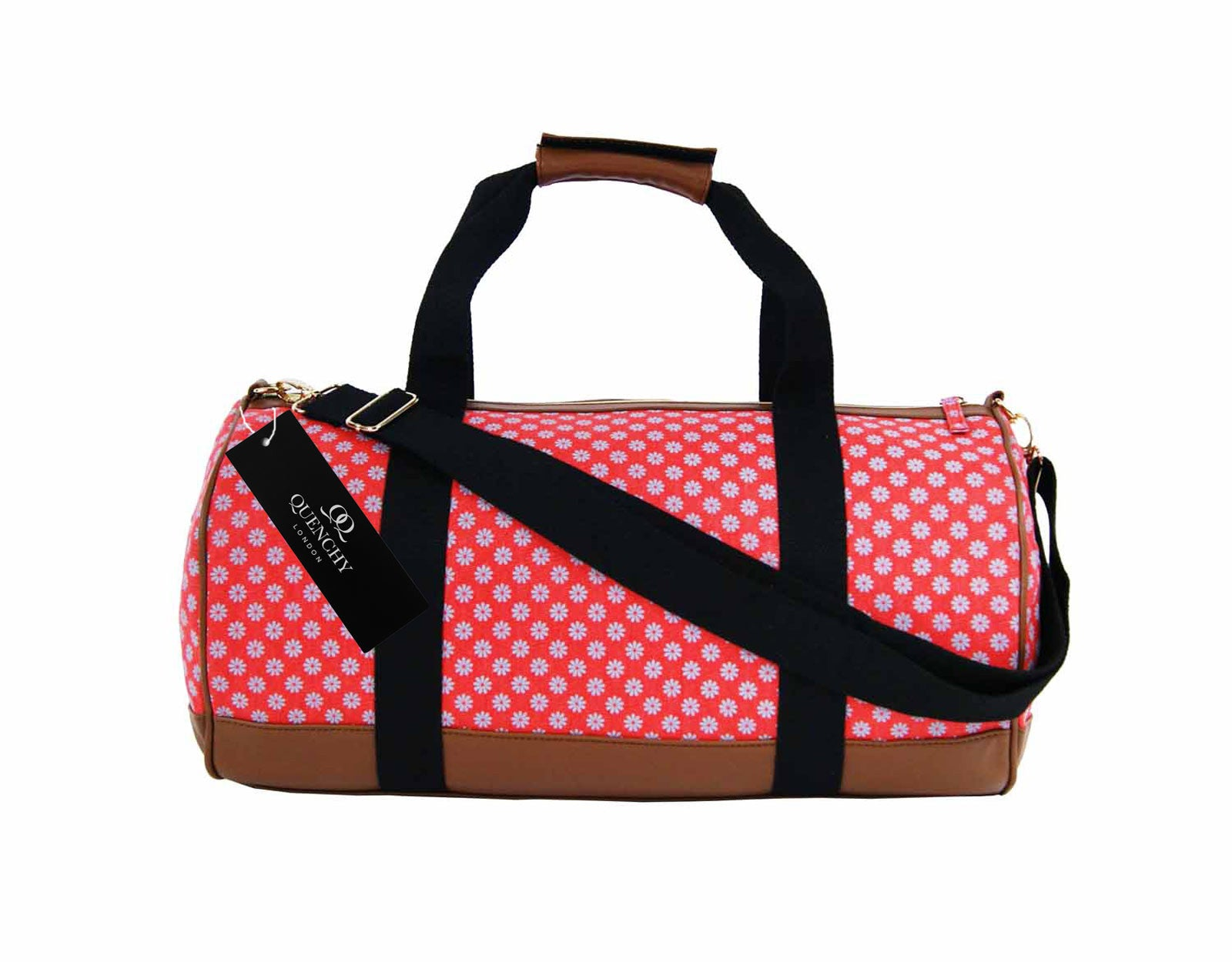 Overnight Duffle Wallflower Print Bag QL6155P front view