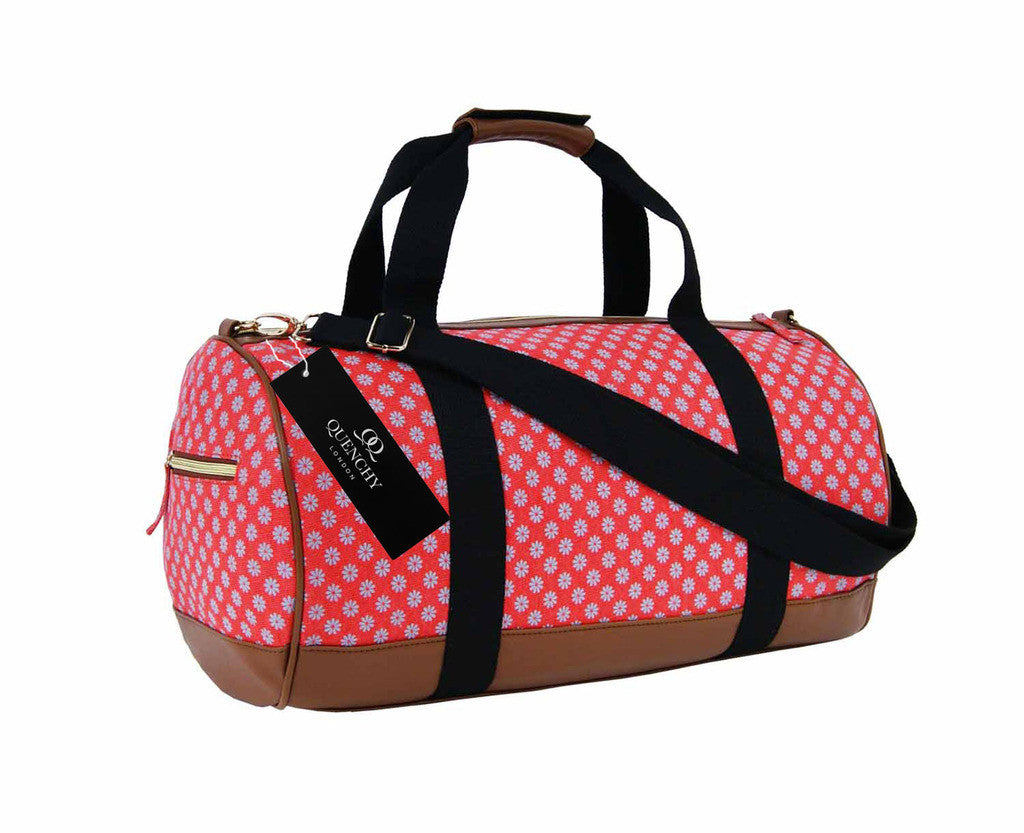 Travel Holdall Duffel Weekend Overnight Duffle Wallflower Print Bag QL6155P