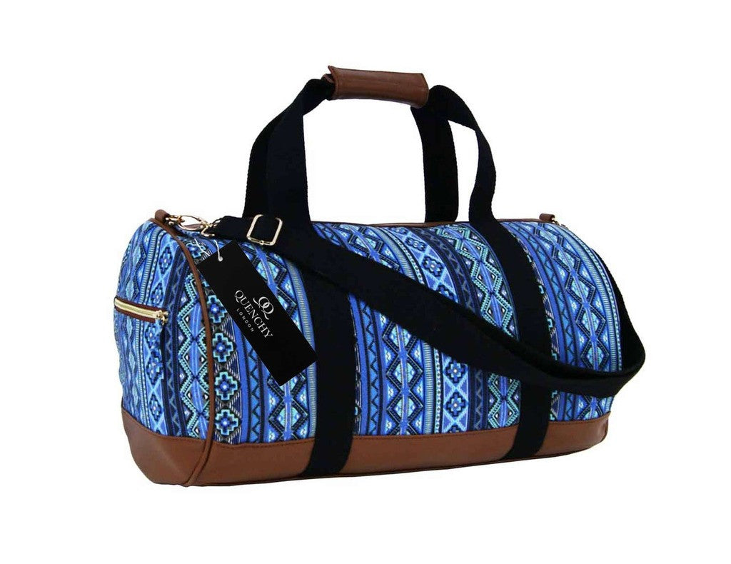Travel Holdall Duffel Weekend Overnight Duffle Aztec Print Bag QL6154N