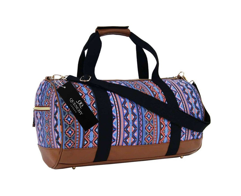 Travel Holdall Duffel Weekend Overnight Duffle Aztec Print Bag QL6154O