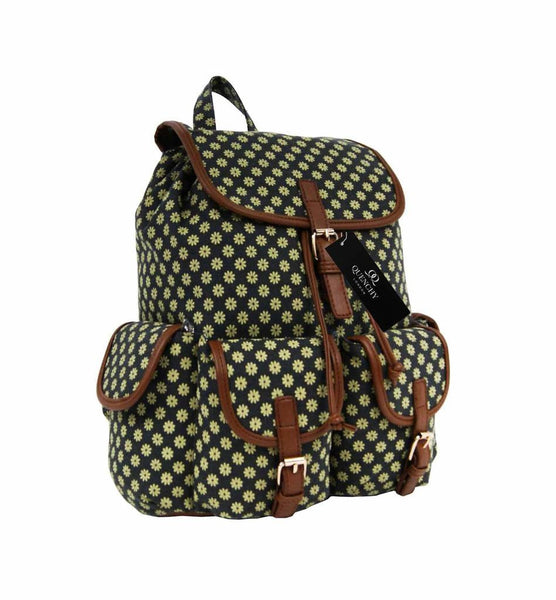 Canvas Backpack Rucksack Day Packs Wall Flower Print Backpacks Bag Bags QL155K