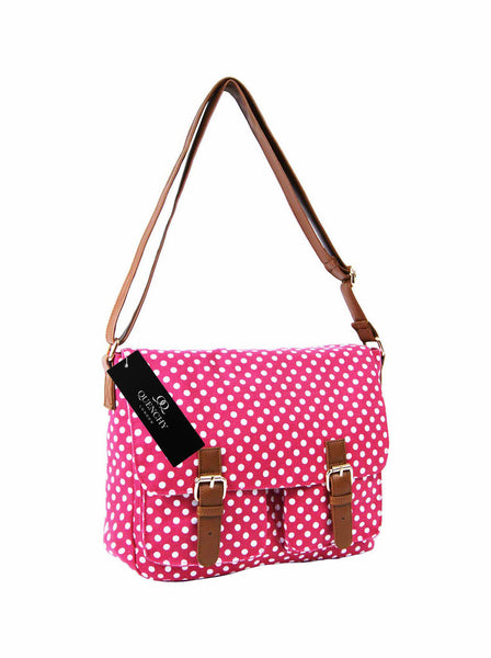 Festival Holiday Satchel in pink polka dot Print Q5152P