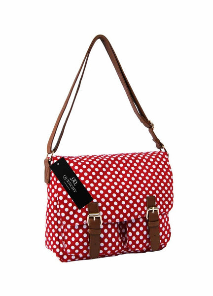 Festival Holiday Satchel in red polka dot Print Q5152R