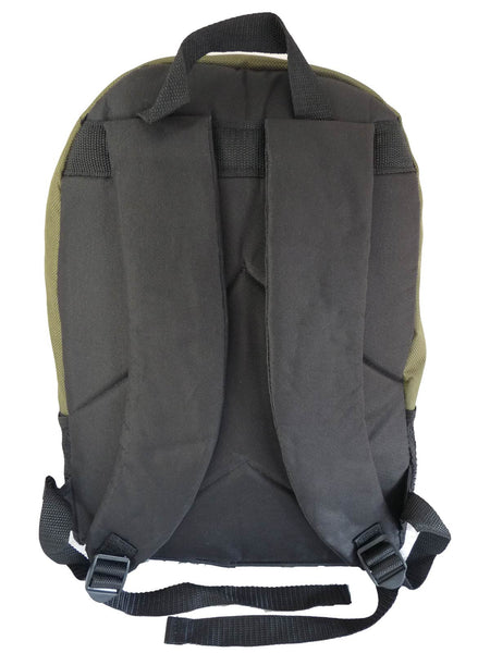 School Backpack RL32 Green Rear View