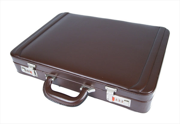 Briefcase Faux Artificial Leather Attache Case RL41B TOP view