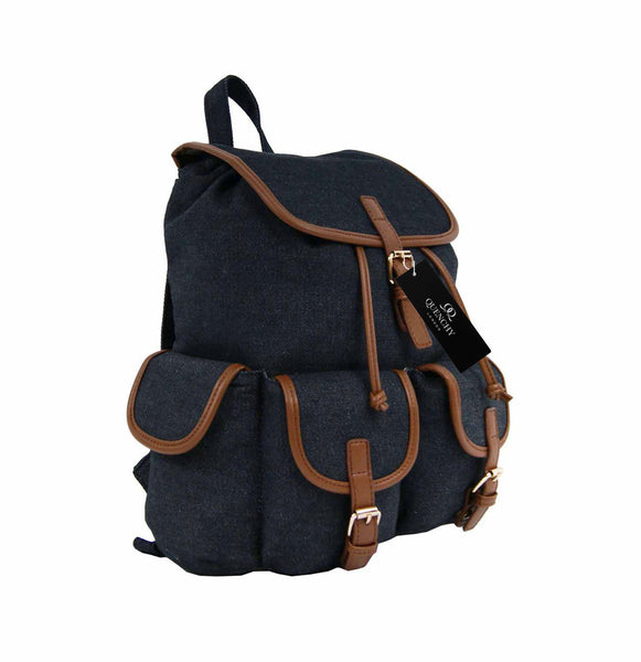 Canvas Denim Jeans Backpack Rucksack Day Packs School Backpacks Bag Bags QL156K