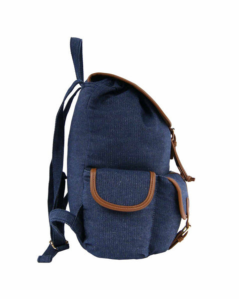 Canvas Denim Jeans Backpack Rucksack Backpacks Bag Bags QL156n side view