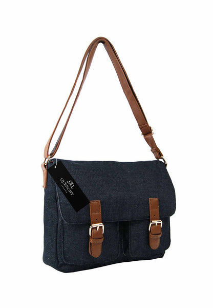 Festival Holiday Satchel in Black Denim Cloth Q5156K