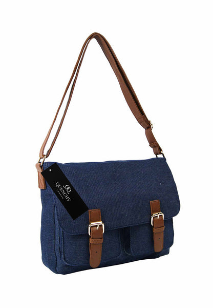 Festival Holiday Satchel in Navy Denim Cloth Q5156N