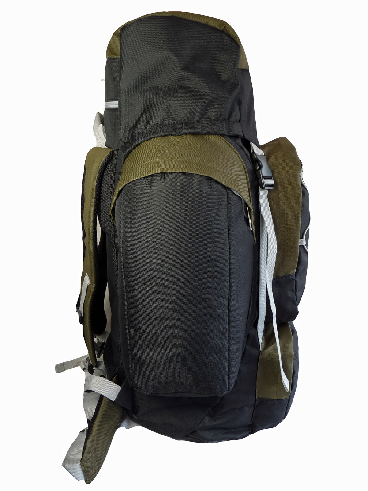 80 100 125 litre backpack green end view