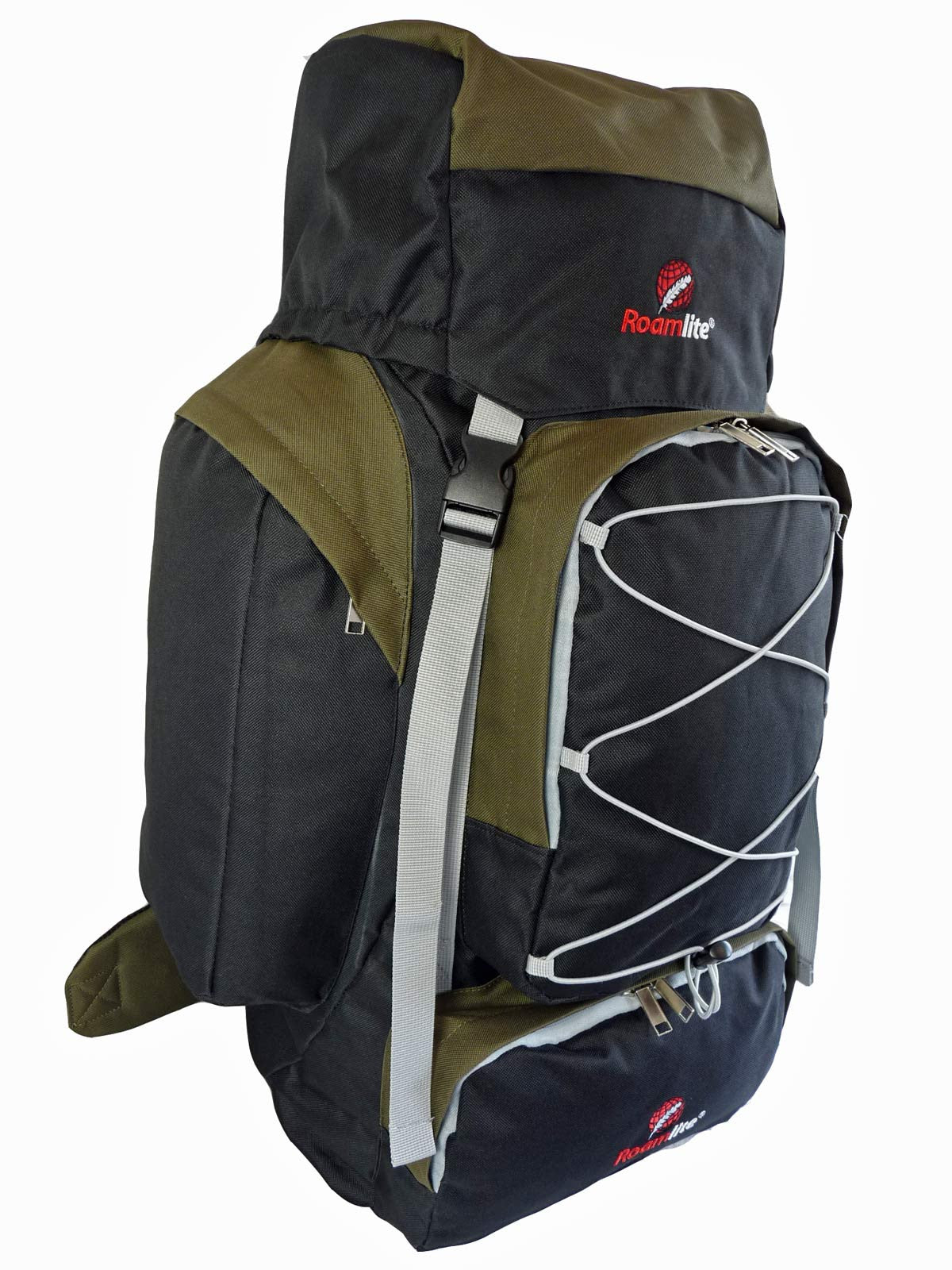 80 100 125 litre backpack green side view