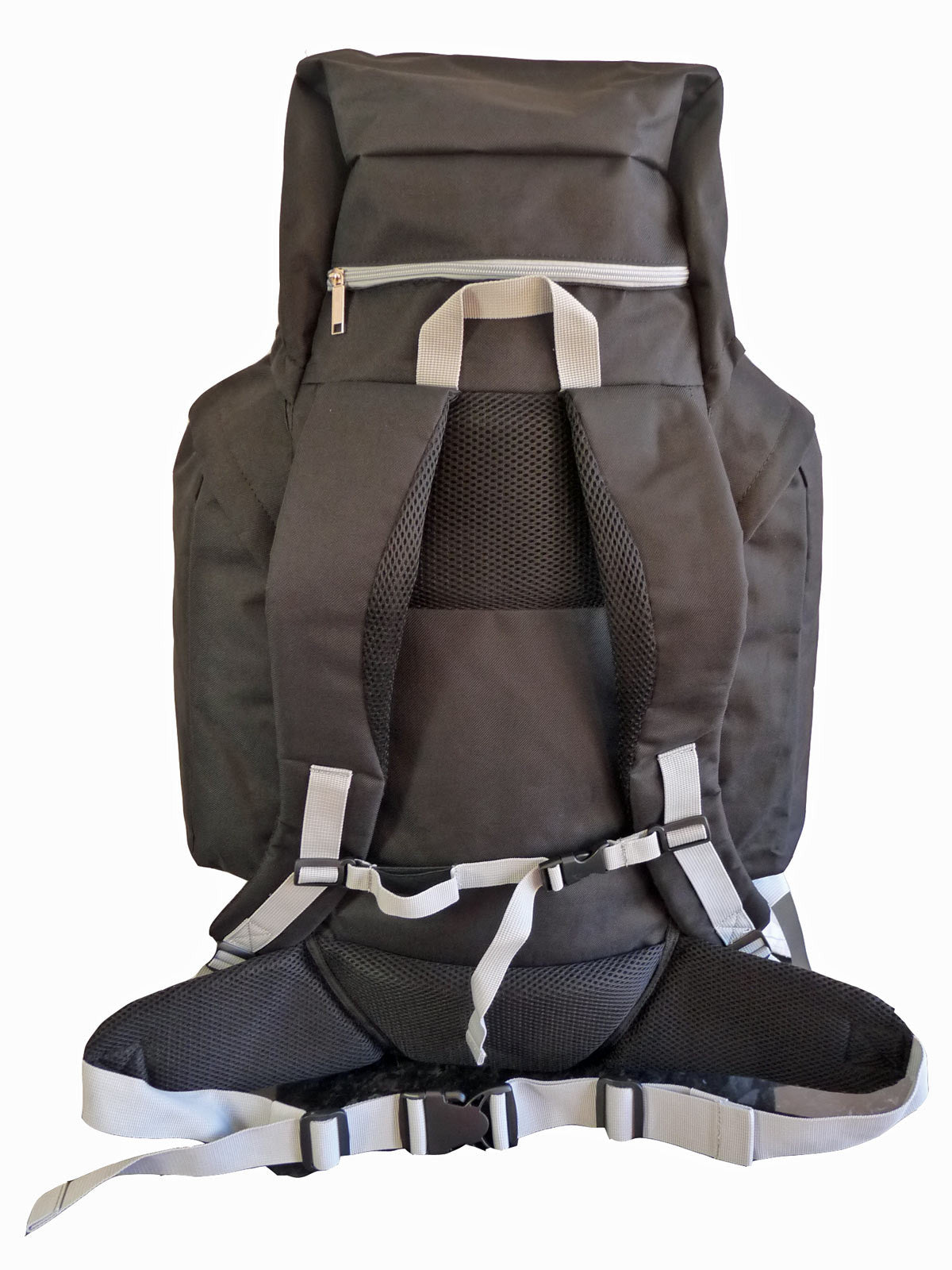 80 100 125 litre backpack black rear view